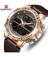 NAVIFORCE Watch Men Top Luxury Brand Leather Waterproof Sports Men's Wat... - $34.15+
