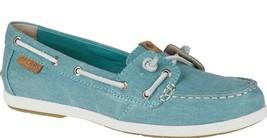 Sperry Top-Sider Bobina Hiedra Azul Agua Lona Slip-On Barco Zapatos STS80252 Nib