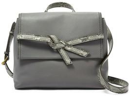 Fossil Willow Leather Crossbody Pewter Python Gray Handbag NWT SHB2344044 $178 - $89.99
