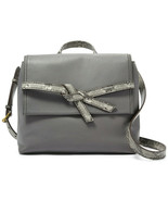 NWT Fossil Willow Leather Crossbody Pewter Python Gray Handbag SHB2344044 $178 - $104.99