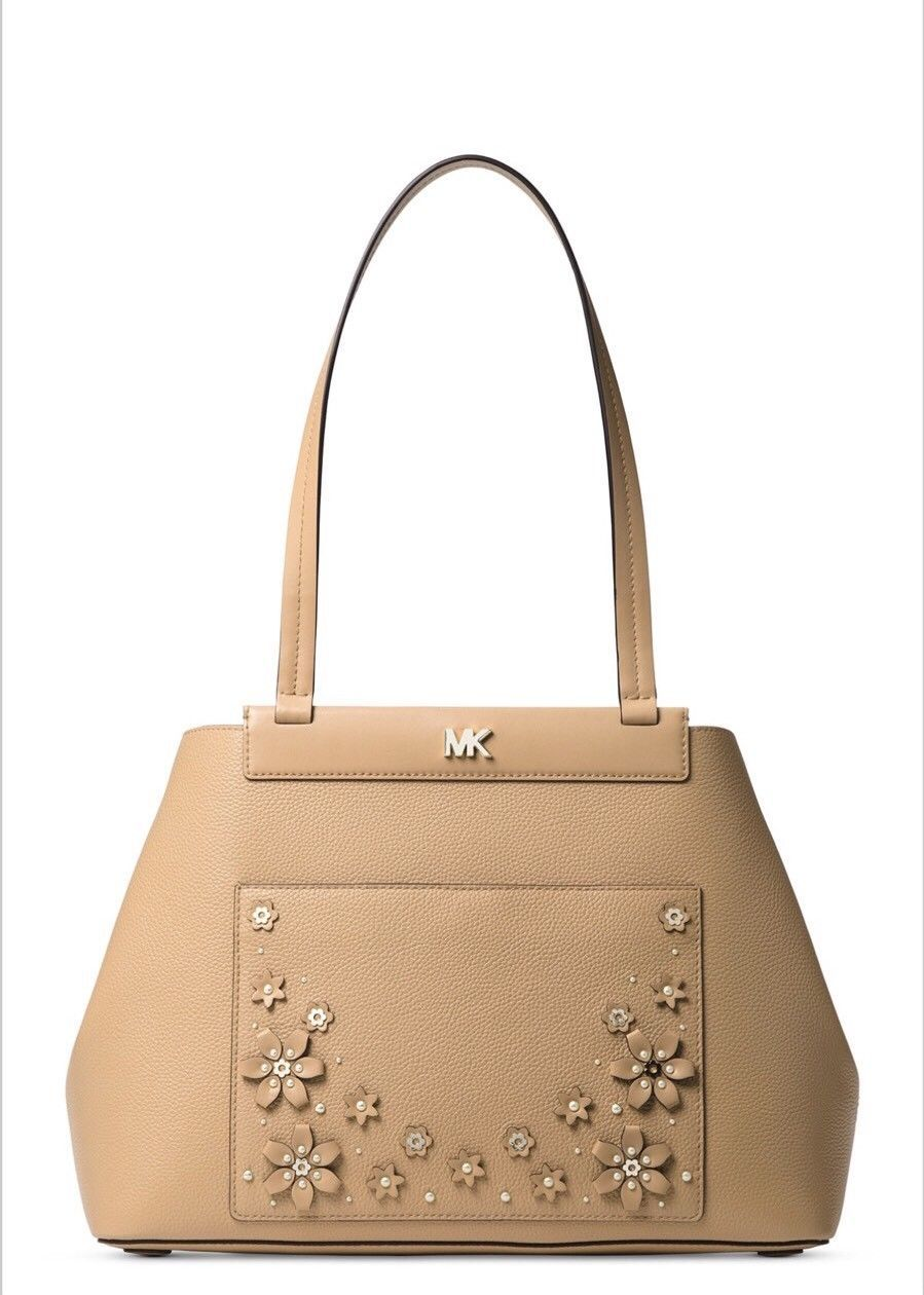 6d55ba8ea2b548 S l1600. S l1600. Previous. MICHAEL Michael Kors Meredith East West Bonded Shoulder  Bag Color- Butternut