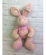 The Childrens Place Bunny Rabbit Plush Stuffed Animal Pink Cream Floral ... - $33.25