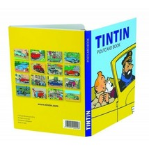 Tintin and cars set of 16 postcards booklet set