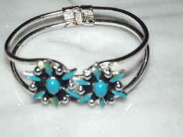 Southwest Statement Turquoise Bangle Bracelet - $20.00