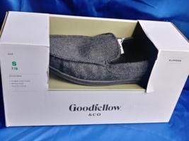 Goodfellow Size S 7/8 Men's Gray Textile Faux Fur Lining Memory Foam Sli... - $22.13 CAD
