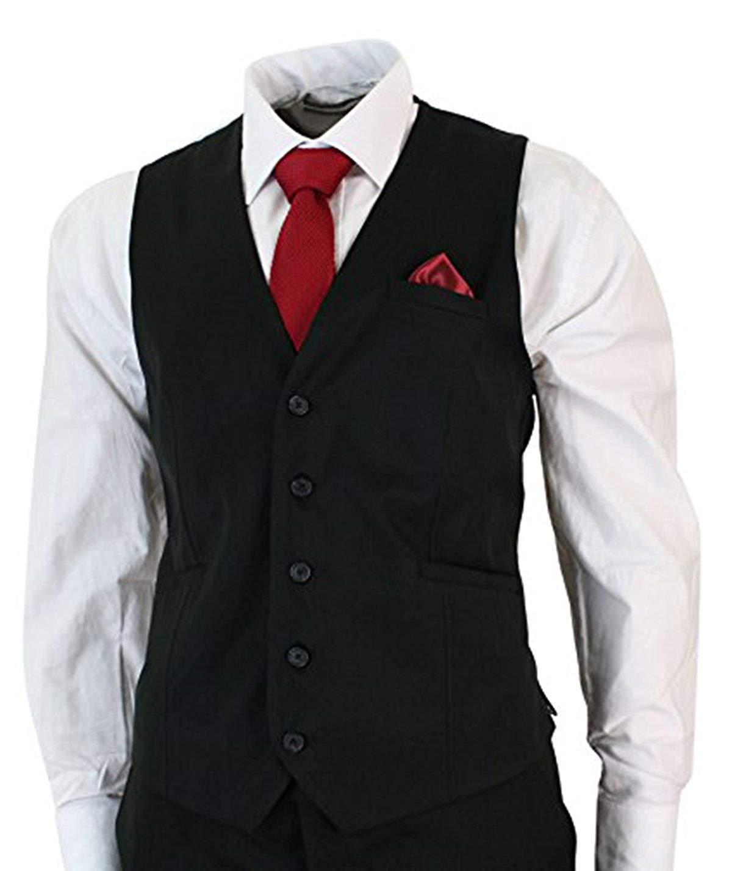 Mens black 3 piece slimfit wedding suit