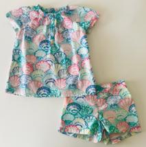 Gymboree Size 4 Girls Seashells Top & Short Set Outfit Summer Beach Cotton - $19.99