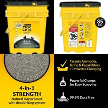 Purina Tidy Cats Clumping Cat Litter, 4-In-1 Strength Multi Cat Litter, ... - $27.76