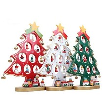 Mini Wood Christmas Tree Decor Ornament Ideal For Home Table Xmas Decora... - €25,39 EUR+