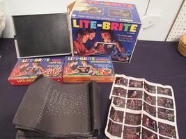 Lite-Brite Vtg 1967 Hasbro 5455 Original Box Pictures Pegs Bonus Pegs Works - $84.26