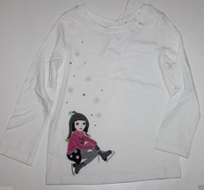Gymboree NWT Girl's Off White Merry & Bright Skater Top w/ Gems - $15.92