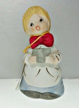 Merri Bells Porcelain Bisque Choir Boy Figurine Bell - $14.84