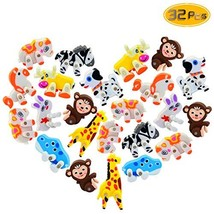 Oruuum 32 Pack Assorted Adorable Cartoon Styling Creative Eraser, Cute S... - $11.80