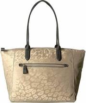 Michael Kors Kelsey Large Leopard Nylon Tote Bag - Truffle - $78.00