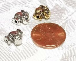 DOG FACE HEAD FINE PEWTER BEAD  - 10mm L x 10mm W x 7mm D; Hole -1mm image 3