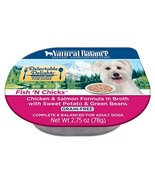 Natural Balance Delectable Delights Wet Dog Food Cups, Fish 'N Chicks Ch... - $45.48