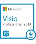 Microsoft Visio 2013 professional 32/64 bit activation key code Legit Li... - $29.99