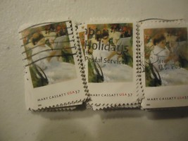 "US postage stamp lot Mary Cassatt Painting ""On A Balcony"" #3806 - 100 pack - $3.99"