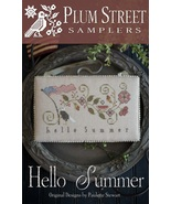 Hello Summer cross stitch chart Plum Street Sam... - $9.00