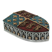 Pacific Giftware Medieval Times Coat of Arms Shield Lidded Box - $16.82