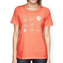 Skulls Womens Peach Shirt - $14.99+