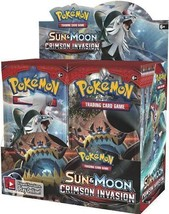 Sun and Moon Crimson Invasion Booster Box Pokemon TCG Factory Sealed Eng... - $94.95