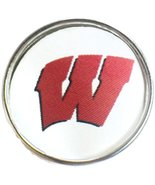 Snap Jewelry Wisconsin Badgers College Logo Fashion University Snap Charm - $5.83