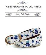 Fashion Flower Belt For Girl | Print Flower Pattern Lady Belt With Metal... - $13.99
