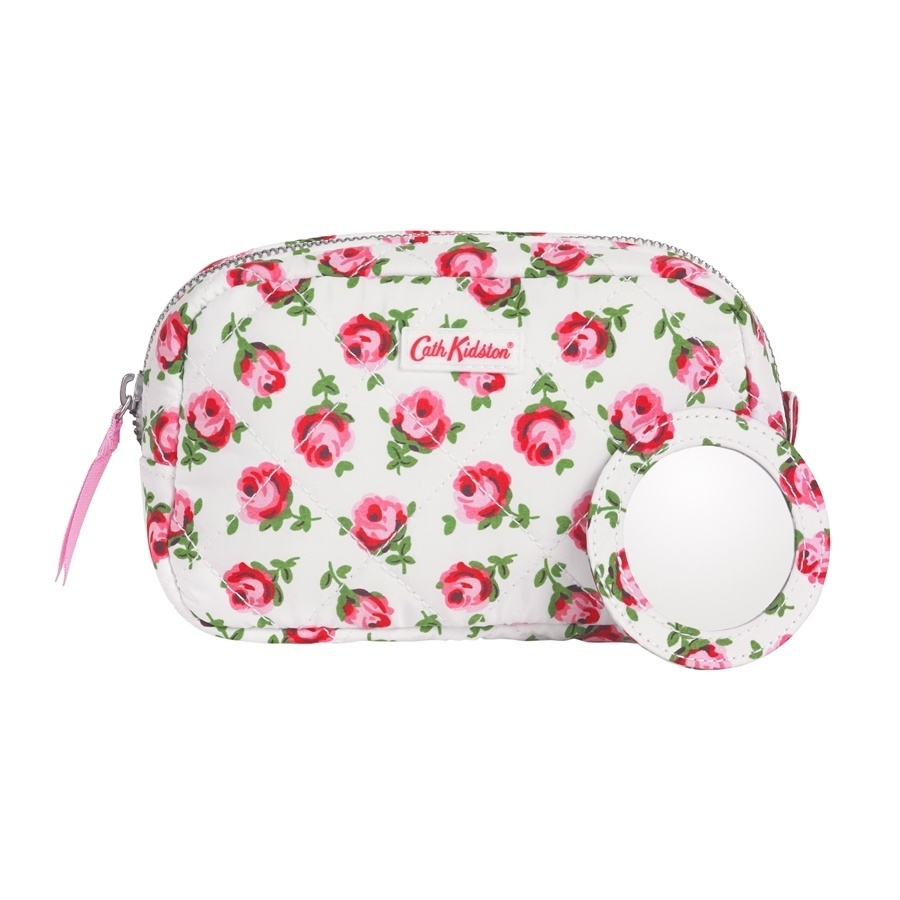 Cath Kidston Cath Kidston100Authentic  QUILTED MAKE UP BAG POLYESTER BUTTON ROSE