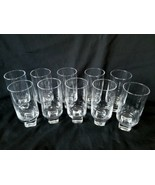 Solid Cube Base Cocktail Glasses Set of 10 Deep Well Sockets Rare - $118.70