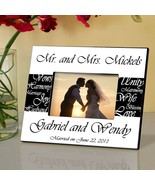 Personalized Picture Frame - Mr. and Mrs. - Wedding Gifts - $29.99