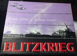 Blitzkrieg Realistic GAME of Lighting Warfare Avalon Hill Co. -- Unpunched - $30.00