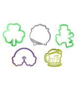 Saint Patrick's Day Shamrock Leprechaun Set Of 5 Cookie Cutters USA PR1161 - $9.99