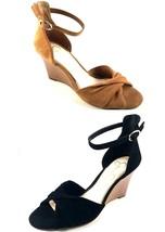 Jessica Simpson Lindella Leather Wedge Sandals Choose Sz/Color - $34.30