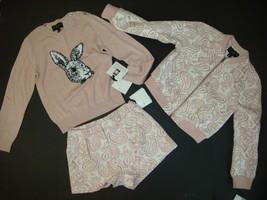 Janie & Jack Victoria Beckham BLUSH Jacquard S JACKET+shorts+BUNNY sweater Pink - $169.99
