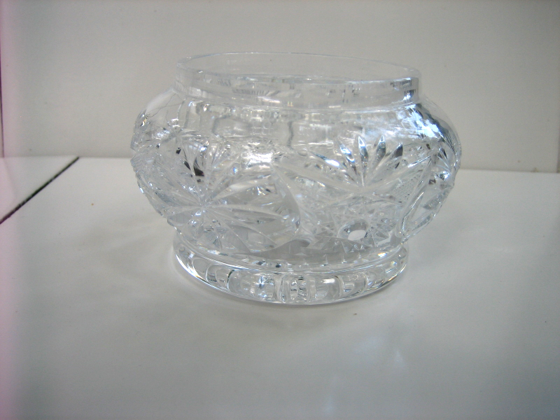Vintage Cut Glass Rose Candy Nut Footed Vase And 43 Similar Items