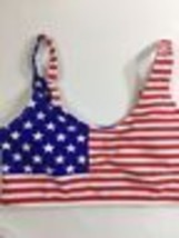 Xhilaration Women Bikini Bra Top Forth Of July Theme Rd Blue White  Size M - $8.59