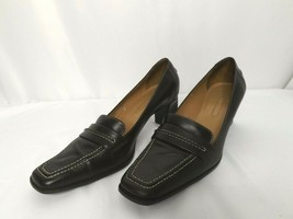 Ann Taylor Loafer Style Pumps Heels Brown Upper Leather 9 1/2M - $15.44