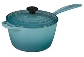 Le Creuset LS2518- 2017 Signature Cast Iron Sauce Pan, 3.25-Quart, Carib... - $329.75