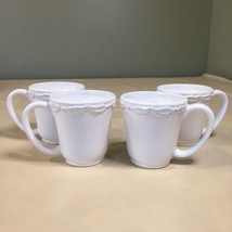 American Atelier Bianca Wave White Coffee Cups Set of 4 - $14.84