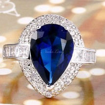 NEW Marquise 3 Carat Blue&White Sapphire Ring~Sterling Silver~Sizes  7 8... - $31.99