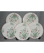 Set (5) Lenox COUNTRY GARDEN PATTERN Salad Plates GOLD TRIM - $39.59