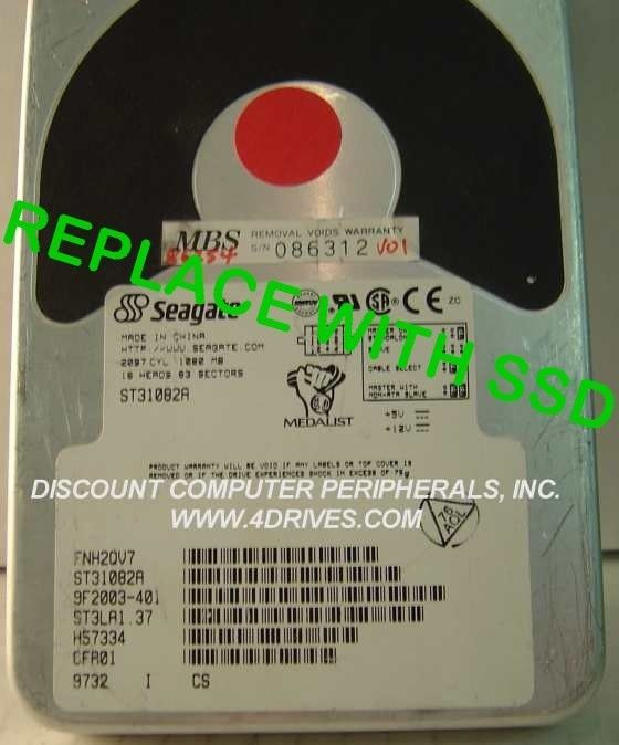 """Seagate ST31082A 3.5"""" IDE Drive Replace with this SSD 2GB 40 PIN IDE Card"""