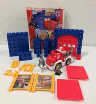 Fisher-Price TRIO Bricks Fire Station with Fire Truck and Dog! - $25.73