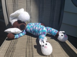 PATTERN ONLY-Crochet sleepy teddy bear - $3.95