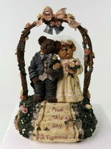 """Boyds Bearstone Collection """"Mr and Mrs. Everlove"""" Music Box 1E/3641 #270561 New image 2"""