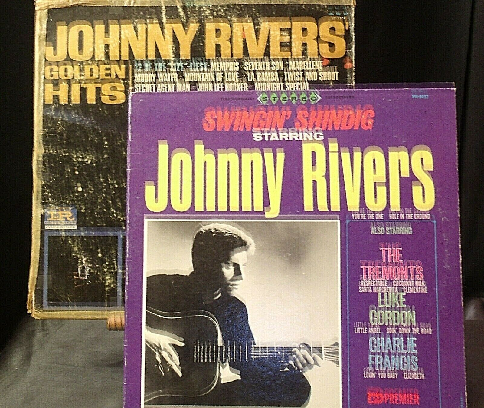 Johnny Rivers' Golden Hits and Johnny Rivers Also Starring The Tremonts AA20-RC2