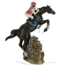 Hagen Renaker Specialty Horse Jumping with Rider Ceramic Figurine image 6