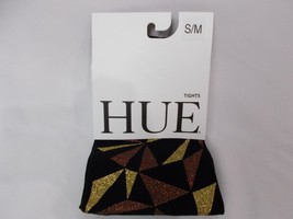 Hue Women's Geo Glitter Printed Tights Black/Gold Size S/M - $13.98
