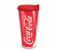 Tervis 24oz Coca Cola Coke Can Tumbler Mug Insulated Cup w Red Travel Li... - $25.99